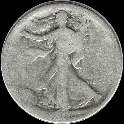 "1920 Walking Liberty Half Dollar 90% SILVER US Mint ""Circulated"" (See Pictures)"
