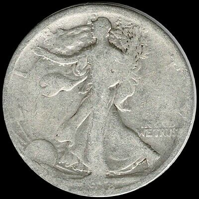 "1918 Walking Liberty Half Dollar 90% SILVER US Mint ""Circulated"" (See Pictures)"