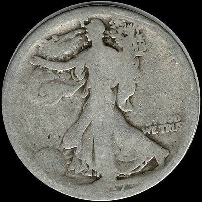 "1917 Walking Liberty Half Dollar 90% SILVER US Mint ""Circulated"" (See Pictures)"