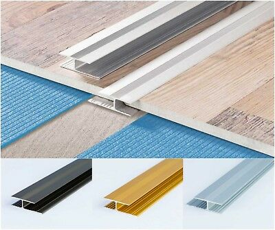 Anodised Aluminium Effect Door Floor Bar-Trim-Threshold-Laminate Connector