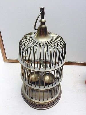 Vintage Brass Hanging Bird Cage Made In India