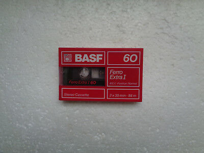 Vintage Audio Cassette BASF Ferro Extra 60 * Rare From Germany 1988 *