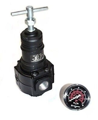 "Norgren R74G-4AT-RFG Pneumatic Pressure Regulator 1/2"" NPT Port with Gauge"