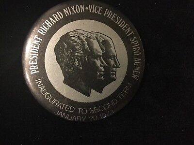 Richard Nixon-Spiro Agnew Inaugurated For 2Nd Term 2 1/4 Inch Button. Box 1