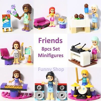 2019 Super New girl in town Friends band Room Minifigures with board Full Set
