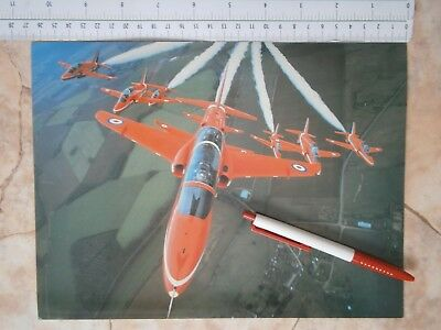 Red Arrows Uk Army Raf Air Force Postcard Picture Aircraft Acrobatic Fly England