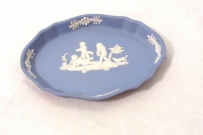 Vintage Wedgwood Jasperware Blue Cherubs Oval Pin Dish Angels Oval