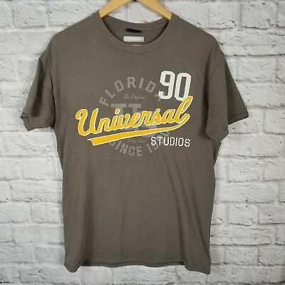 Universal Studios Hollywood Gray T Shirt Adult Unisex Medium FLORIDA 90
