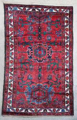 Tapis ancien rug oriental orient tribal ethnique Persan Perse 1950