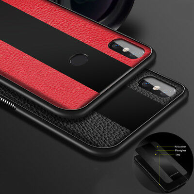 For Xiaomi Mi 8 Lite SE A2 MAX 3 6A 6 Pro Leather Texture Soft TPU Case Cover
