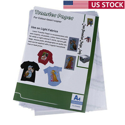 10pcs PU Laser Heat Transfer Papers for T-shirt Thermal Transfers Hollow Paper