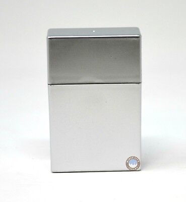 King Size Solid Silver Flip To Open Cigarette Case