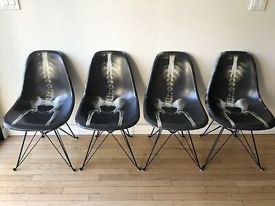 Dr. Woo x Modernica Limited Edition Fiberglass Chairs- Set Of 4 -PERFECT