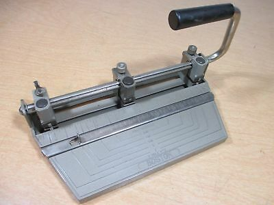 Boston Heavy Duty Metal Adjustable Three Hole Paper Punch USA Made