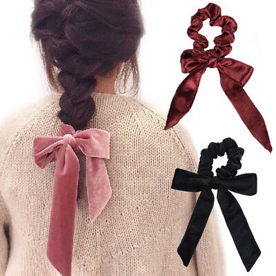 Velvet Ribbon Rope Hair Ties Bow Elastic Hair Band Hair Accessories Scrunchie