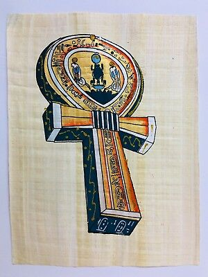 """Egyptian Papyrus Original Hand Painted Made in Egypt 12'' X 16"""" FREE SHIPPING"""
