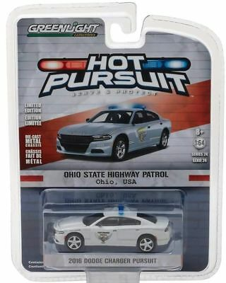 2016 Dodge Charger POLICE  Ohio State Highway Patrol  *** Greenlight 1:64 OVP