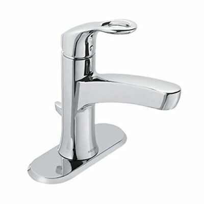 Moen WS84900 Kleo One Handle Bathroom Faucet Low Arc Lavatory Sink Fixture, Ch..