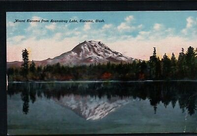 Unused Mt. Tacoma from Spanaway Lake Tacoma, WA Vintage Pc