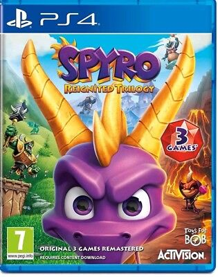 Spyro the Dragon Reignited Trilogy ps4 (Sony PlayStation 4, 2018) NEUWARE
