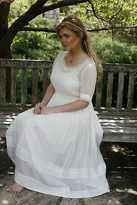 Victorian Trading Co April Cornell Baccalaureate Ivory Dress XXL