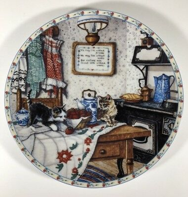 Curious Pair Knowles Collectors Plate Cats Kittens Kitchen 1992