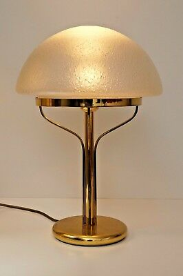 Very Elegant Art Deco Bankers Lamp Mushroom Light Table Lamp Brass