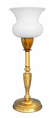 Very Elegant Art Deco Desk Lamp Mazda Style Brass
