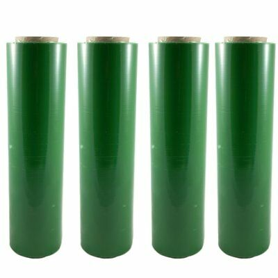 "4 GREEN 18""x 1500 FT Roll 80 Gauge Thick Stretch Packing Wrap Pallet Shrink Film"