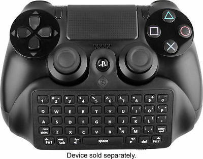 New ~ PS4 CHATBOOST CHATPAD USED BLACK CONTROLLER KEYPAD CM00080