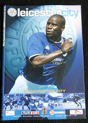 Leicester City v Manchester City    fa cup 3rd round replay 14-1-2004  vgc
