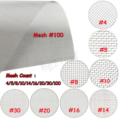 304 Mesh Stainless Steel Wire Cloth Screen Filter #4/5/8/10/14/16/20/30/100