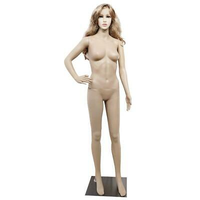 Fashion Female Mannequin Plastic Display Dress Full Body Form Coat Cloth w/ Base