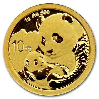 Chine 50 yuan Panda or 1 gramme 2019 China 1 gram Gold coin BU Sealed