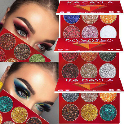 Diamond Glitter Eyeshadow Palette Shimmer Powder Eye Makeup Cosmetic - 6 Colors