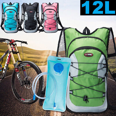 12L Bike Bicycle Cycling Hydration Pack Backpack + 2L Water Bag Outdoor Hiking