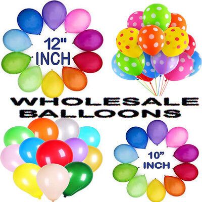 WHOLESALE BALLOONS 25-100V Latex BULK PRICE JOBLOT Quality Any Occasion BALLOON