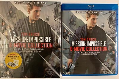 Mission Impossible 6 Movie Collection Blu Ray 7 Disc Set + Slipbox & Case Files