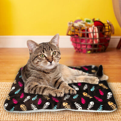 Large Soft Warm Dog Cat Pet Mat Bed Pad Self Heating Rug Thermal Washable US