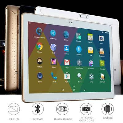 "10,1"" HD Tablet PC 4+64 GB Android 7.0 Octa Core 2 GHz Dual-SIM Kamera Telefon"