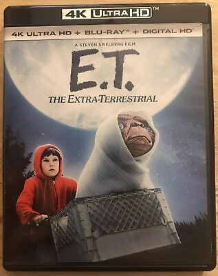 E.t. The Extra-Terrestrial 4K Ultra Hd + Blu Ray 2 Disc Set Free Shipping