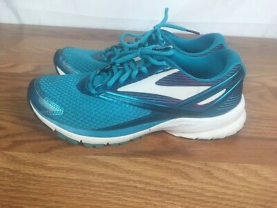 new product 485a5 05505 BROOKS LAUNCH 4 Women's Teal White Black Running Shoes Sneakers Sz 10.5