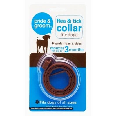 Dog Flea & Tick Collar Flee Lasts 3 Months Protection Stretch Fits All Size Dogs