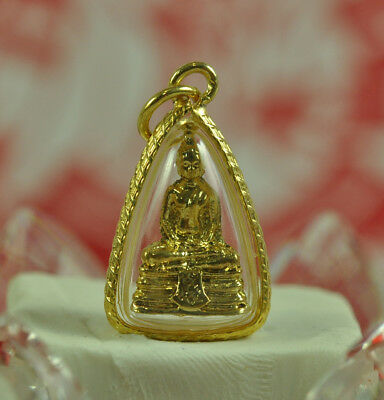 LP Sothorn Thai Amulet Buddha Figure Wat Figurine Jewelry Lucky Gold Pendant TOP