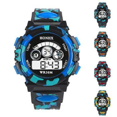 Water Resistant Multi function Sports LED Wrist Watch for Kids Boy's Girls free