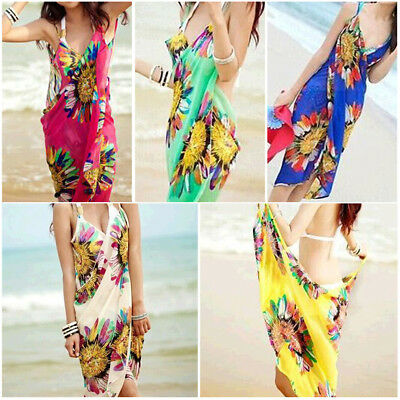 1b36ce6347 Sexy Women Beach Swimsuit Bikini Swimwear Wrap Pareo Cover Up Beach Dress  Sarong