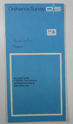 1959 old vintage OS Ordnance Survey 1:25000 First Series map TQ 01 Storrington