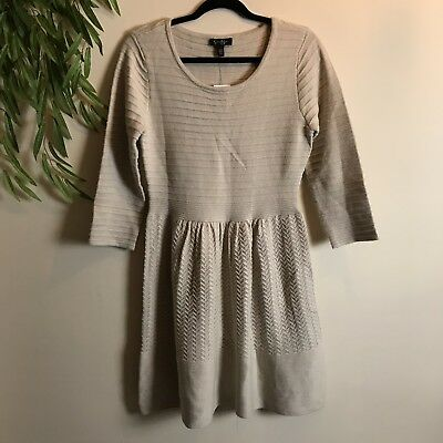 3c14efd21d JESSICA SIMPSON SIZE L knit long sleeved sweater dress Aztec Tribal ...