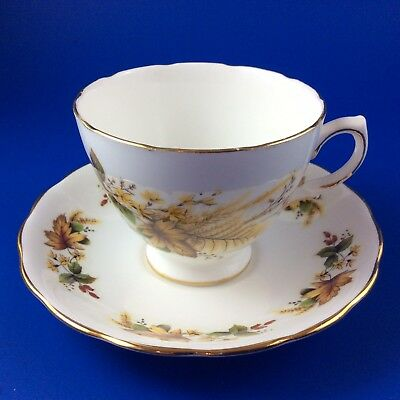 Royal Vale Autumn Leaves Bone China Tea Cup And Saucer