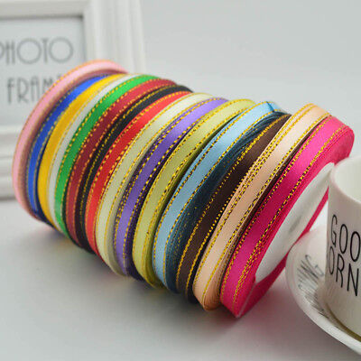 25 Yards Silk Satin Ribbon Wedding Party Home Decoration Sewing Gift Packaging